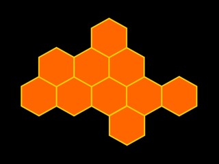 bees honeycomb on black