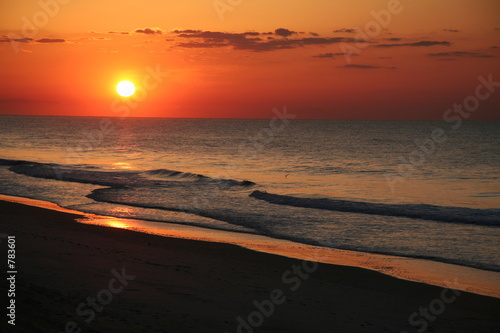 east coast beach sunrise.