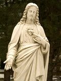 sacred heart of jesus statue poster