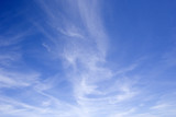 blue sky with cirrus clouds poster