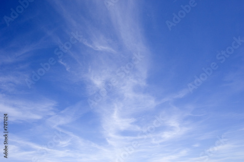 poster of blue sky with cirrus clouds
