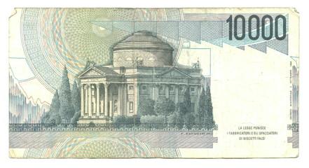 10,000 italian lire (reverse)