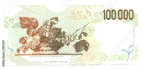 100,000 italian lire (reverse)