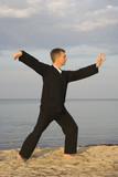 tai chi - posture single whip poster