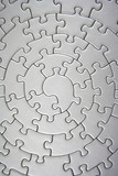 complete grey jigsaw wide angle poster
