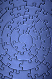 complete blue jigsaw wide angle poster