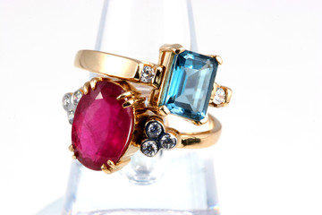 luxury rings topaz