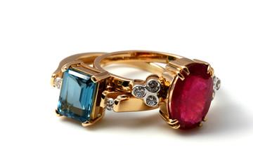 luxury rings topaz pair