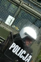armoured policeman