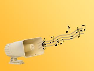 loudspeaker playing music