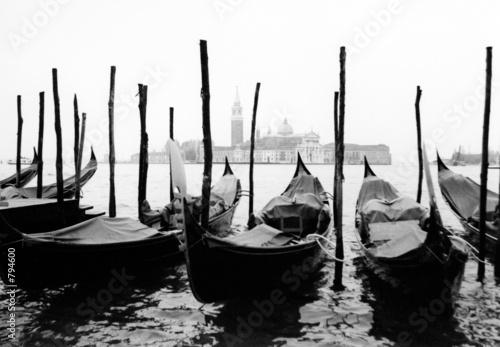 Fototapety, obrazy : venise, gondoles