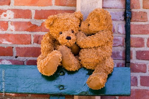 cute teddybears sharing a secret