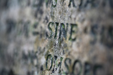 writting on an old stone