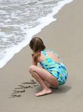 girl on beach poster