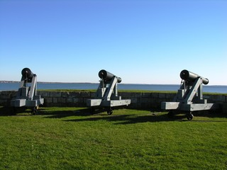 cannons from the past.
