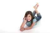young teen girl talking on cellphone 9 poster