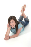 young teen girl talking on cellphone 8 poster
