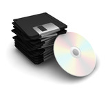 floppy disks and cd poster