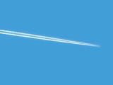 plane in sky poster