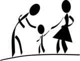 glückliche familie poster