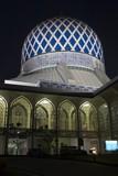 the sultan salahuddin abdul aziz shah mosque in shah alam. poster