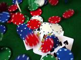 poker chips poster