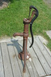 hand operated water pump poster