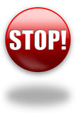 stop! red button / sign poster