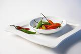 chili on white plate