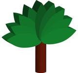 arbre logo 3d poster
