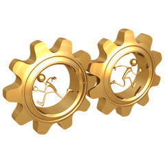 opposing gears