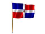 dominican republic silk flag poster