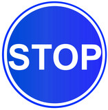stop sign 3 poster