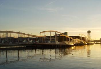 sunrise in the wharf
