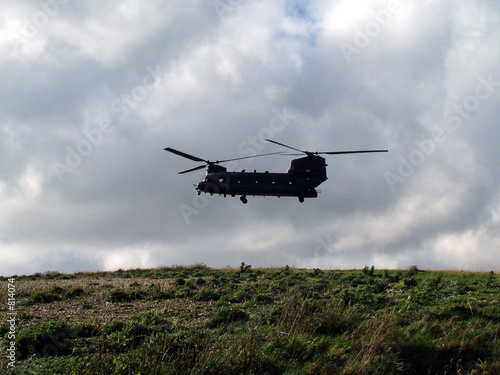 Poster chinook helicopter
