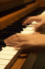 playing the piano-vertical format