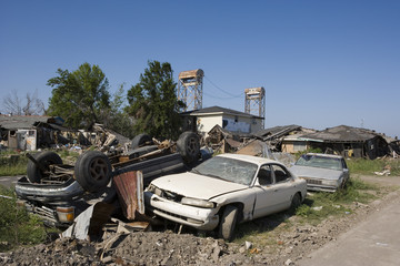 ninth ward pile of cars 4366