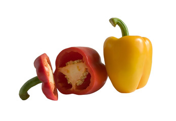 peppers, isolated