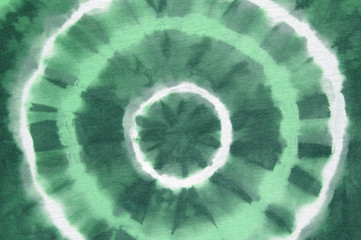tie dyed green