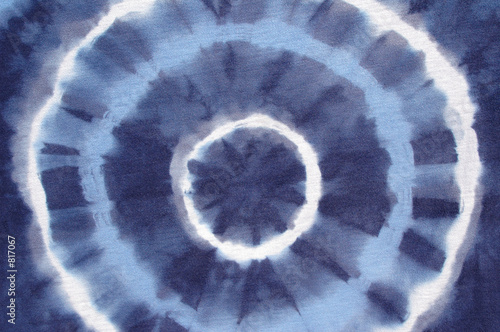 tie dyed blue