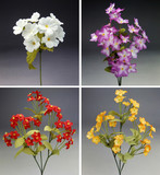 four colorful bouquet of fabric flowers poster