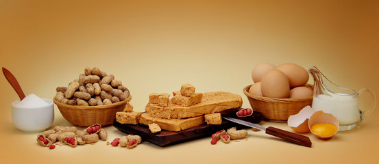 peanut fudge composition with ingredients