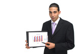 businessman with charts poster
