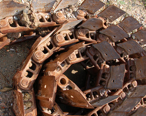 broken track