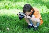 Fototapety young photographer