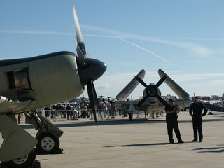 two historic aircraft
