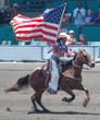 cowgirl  & flag