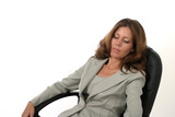 executive business woman relaxing poster
