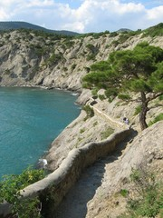 black sea coast in sudak