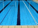 outdoor swimming pool poster
